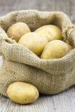 burlap τσαντών πατάτες ακατέργα&si Στοκ εικόνα με δικαίωμα ελεύθερης χρήσης