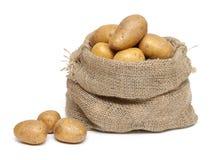 burlap τσαντών πατάτες Στοκ φωτογραφία με δικαίωμα ελεύθερης χρήσης