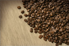 burlap φασολιών καφές Στοκ φωτογραφία με δικαίωμα ελεύθερης χρήσης