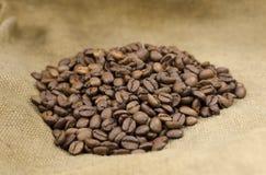 burlap φασολιών καφές Στοκ Φωτογραφίες