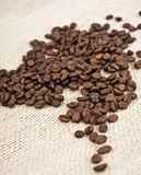 burlap φασολιών καφές Στοκ Εικόνες