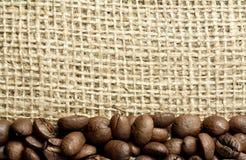 burlap φασολιών καφές Στοκ Φωτογραφία
