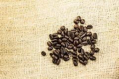 burlap φασολιών σάκος καφέ Στοκ εικόνες με δικαίωμα ελεύθερης χρήσης