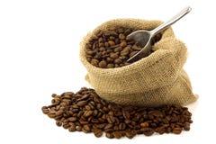 burlap φασολιών τσαντών καφές Στοκ εικόνες με δικαίωμα ελεύθερης χρήσης