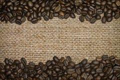 burlap φασολιών στενός καφές επάνω Στοκ εικόνα με δικαίωμα ελεύθερης χρήσης