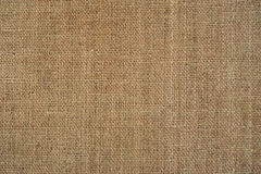 Burlap. Old brown burlap texture for background Royalty Free Stock Photography