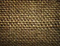 Burlap. Closeup image of a burlap stock photography