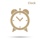 Burlap alarm clock Royalty Free Stock Images