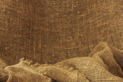 Burlap backgraund Stock Photos