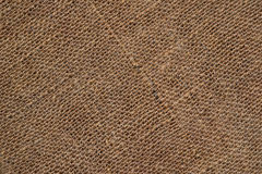 Background Brown Sacking. Burlap abstract brown diagonal sacking background Stock Images