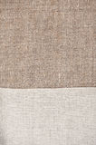 Burlap background with linen cloth Royalty Free Stock Photos