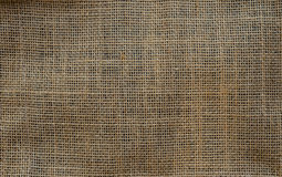 Burlap Background. Natural textured canvas Royalty Free Stock Photos