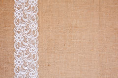 Hessian Lace Background Stock Photos