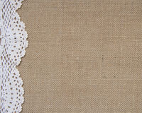 Free Burlap Background With Lace Stock Photo - 38710180