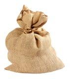 Burlap bag. Isolated on white background stock photo