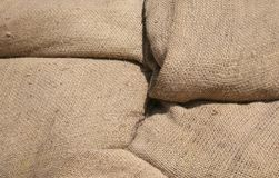 Burlap bag background Stock Image