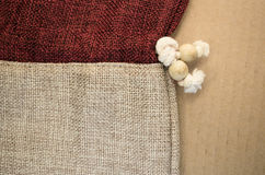 burlap bag close up Stock Photography