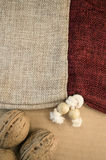 burlap bag close up Stock Photos
