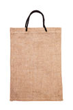 Burlap bag isolated on white Royalty Free Stock Photography