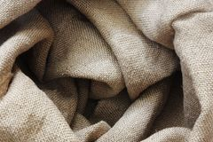 Burlap bag texture Royalty Free Stock Images