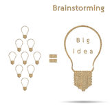 Burlap big idea concept brainstorming Stock Images