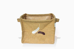Burlap box Stock Images
