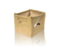 Burlap box Royalty Free Stock Photography