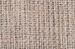 Burlap brezentowa tekstura z wielkimi niciami Zdjęcia Stock