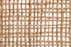 Burlap brezentowa tekstura z wielkimi niciami Zdjęcia Royalty Free