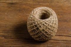 burlap brown rope spool Stock Photos