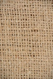Burlap. Brown burlap weave bag close-up Royalty Free Stock Photography