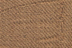 Burlap Canvas Crumpled Grunge Texture Sample Stock Photo