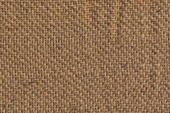 Burlap Canvas Crumpled Grunge Texture Sample Stock Photography