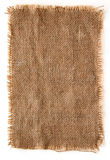 Burlap canvas lacerate edge