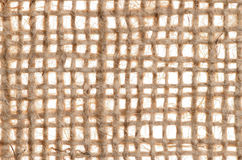Burlap canvas texture with large threads Royalty Free Stock Photos