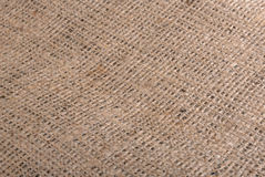 Burlap close up background Stock Image