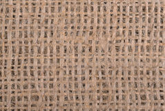 Burlap close up background Stock Photography