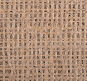 Burlap close up background Stock Photo