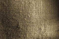 Burlap close up showing weave and texture Stock Photo