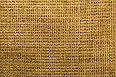 Burlap close up showing weave and texture Stock Images