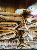 Burlap Coffee Bags Royalty Free Stock Image