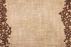 Burlap and coffee Stock Images