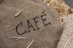 Burlap coffee sack Stock Image