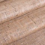 Burlap, drapuje, fałdy, tekstury tkanina, tło, kanwa, bac Obrazy Royalty Free