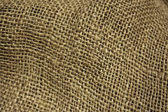 Burlap fabric background Royalty Free Stock Photo