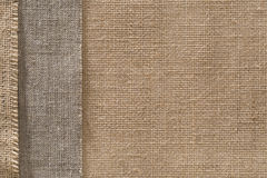 Burlap Fabric Sack Cloth Edge Background, Sackcloth Border Stock Photography