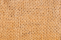Burlap fabric texture Royalty Free Stock Images