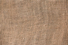 Burlap fabric texture close up Stock Photo