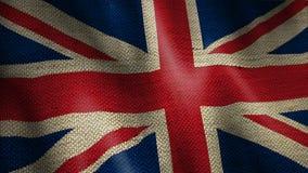 Burlap flaga Brytyjski ilustracja wektor