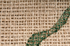 Burlap Green Pattern Stock Photo